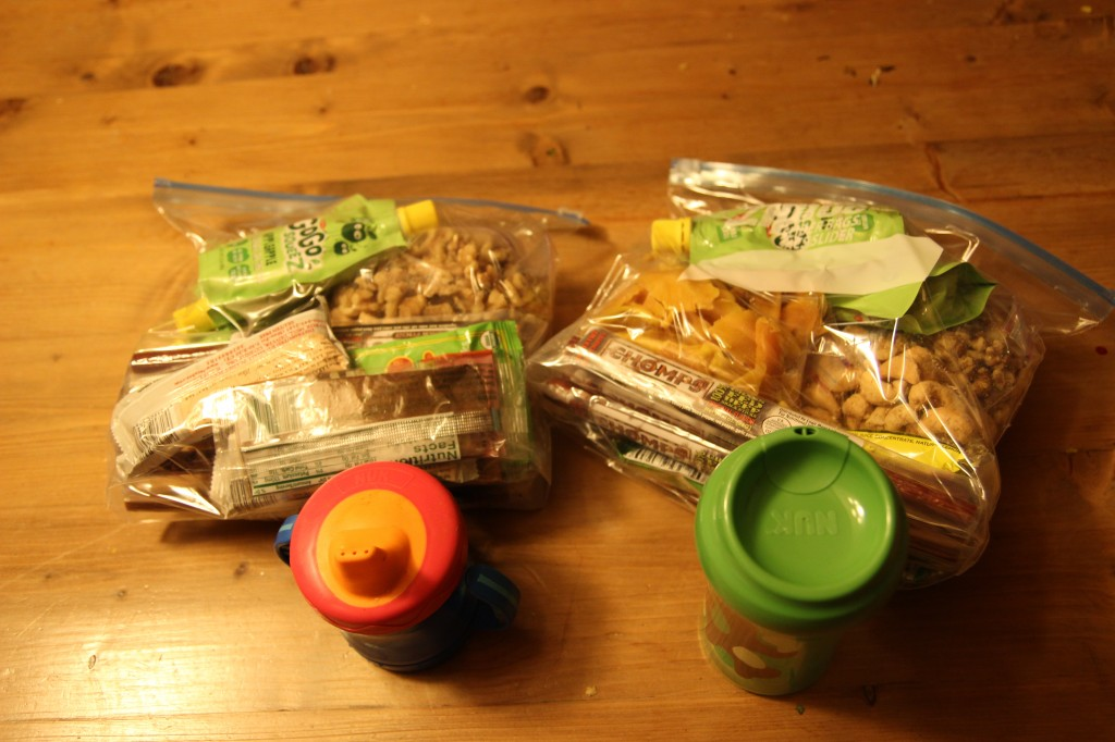Snack packs for travel with kids