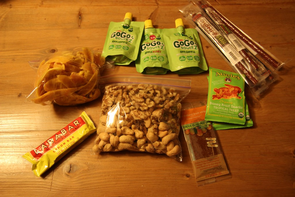 Elements of Snack packs for travel with kids