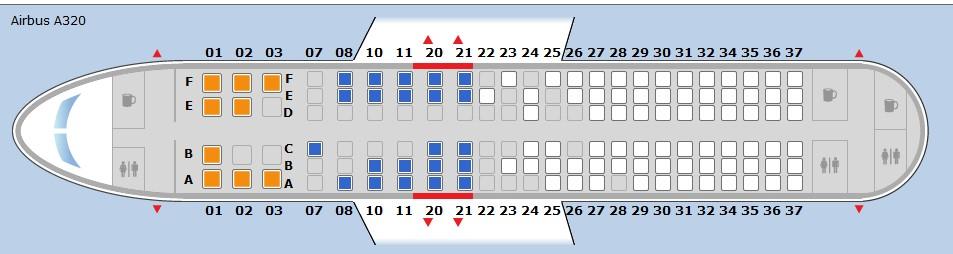 Seat Map 1: Select Seats at Booking