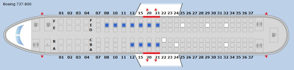 Seat Map 3 - Mostly Middles