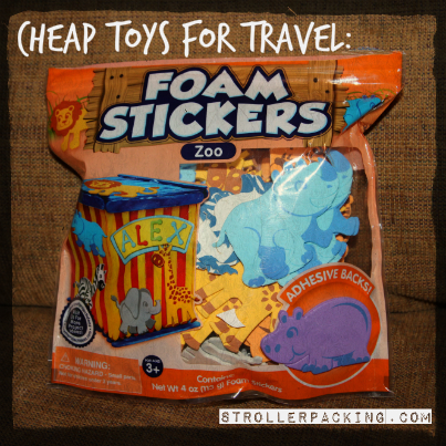 Cheap Toys for Travel: Foam Stickers